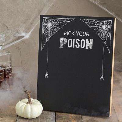 14 in. x 11 in. Pick Your Poison Printed Chalkboard Wall Art