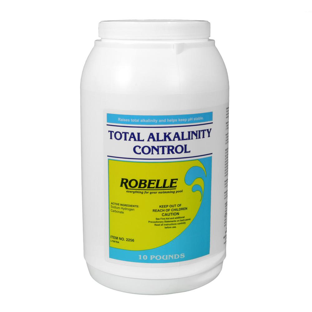 Robelle 10 lbs total alkalinity control for swimming pools 2256 the home depot Swimming pool high alkalinity
