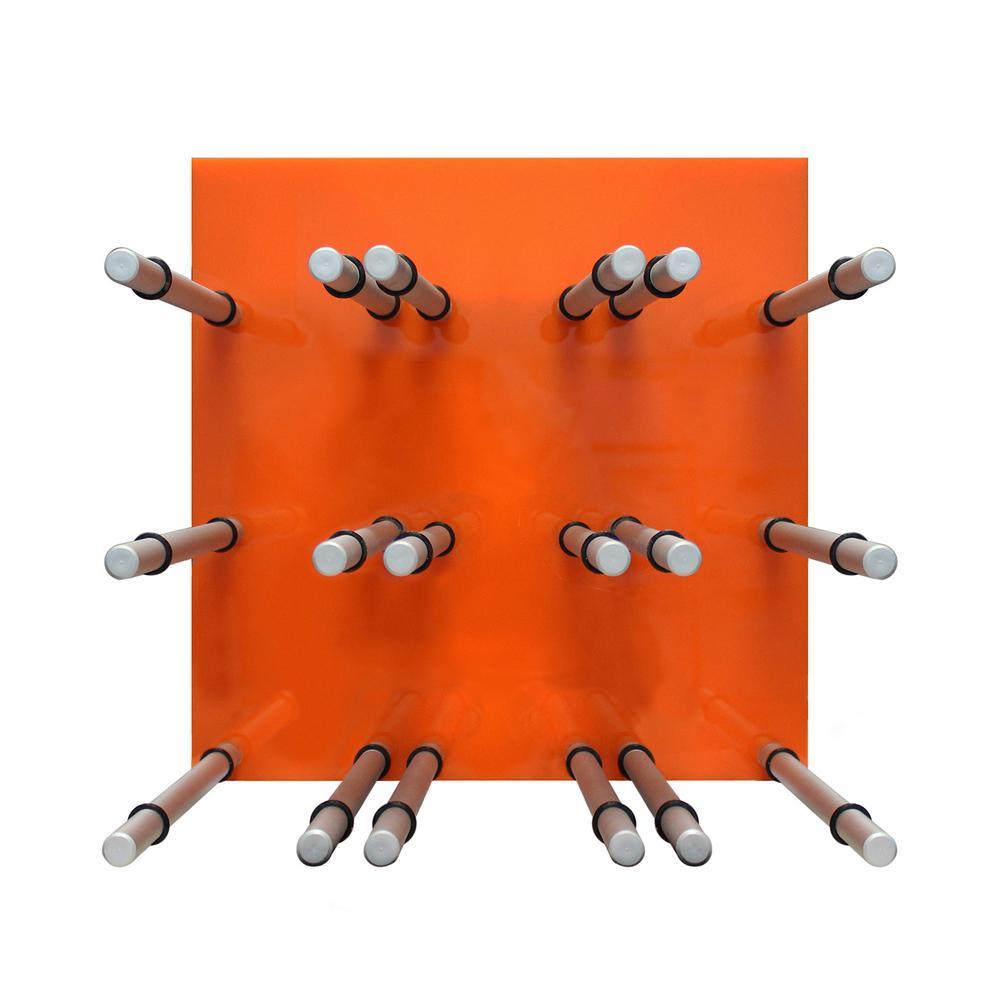 9-Bottle Acrylic Orange Wine Rack