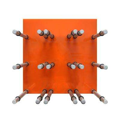 9-Bottle Acrylic Orange Wine Rack