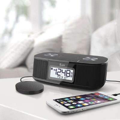 Black Pillow Shaker Digital FM Alarm Clock