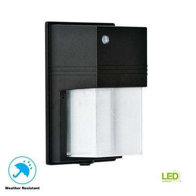 25-Watt Black Dusk-to-Dawn Outdoor Integrated LED Wall Pack Light