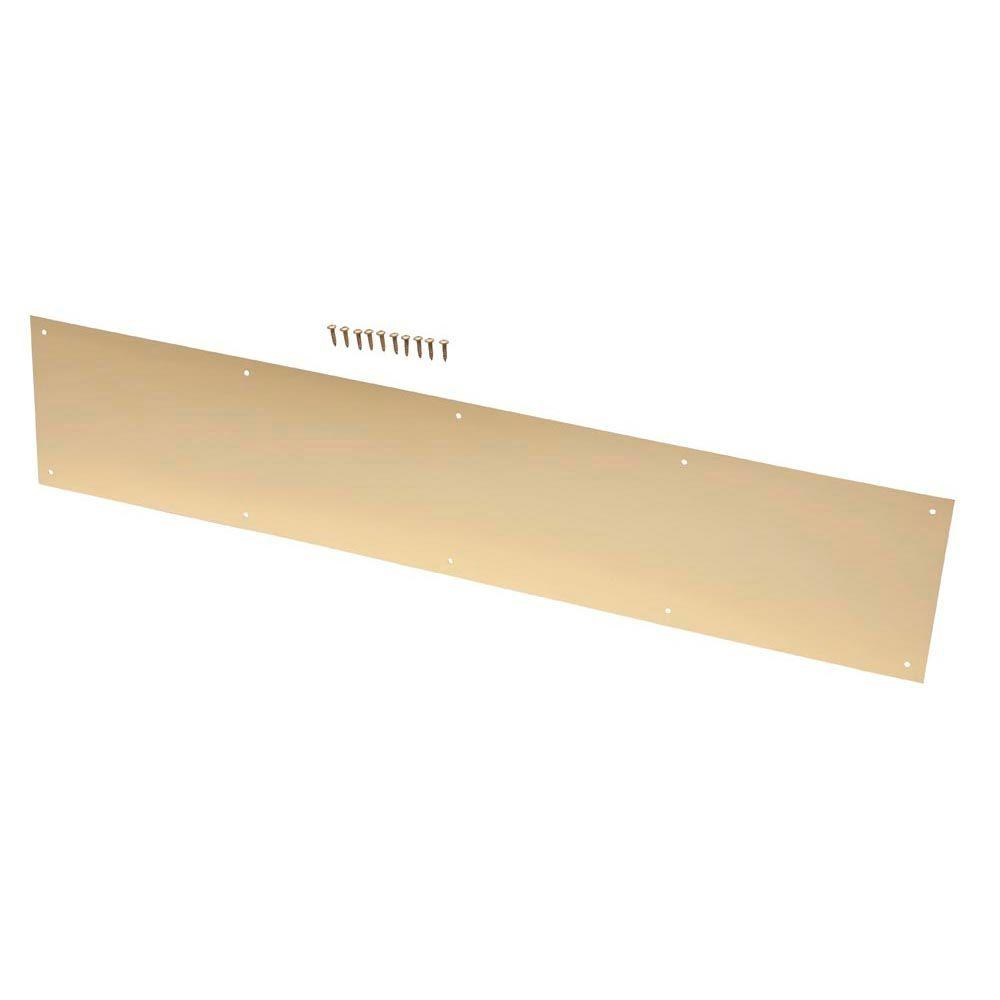 6 in. x 30 in. Bright Brass Kick Plate