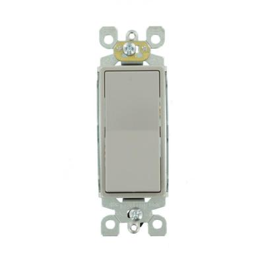 Decora 15 Amp 3-Way Rocker Switch, Gray