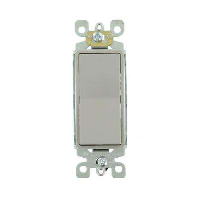 Decora 15 Amp 3-Way Rocker Switch, Gray