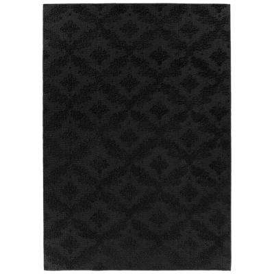 Charleston 6 Ft. x 9 Ft. Area Rug Black