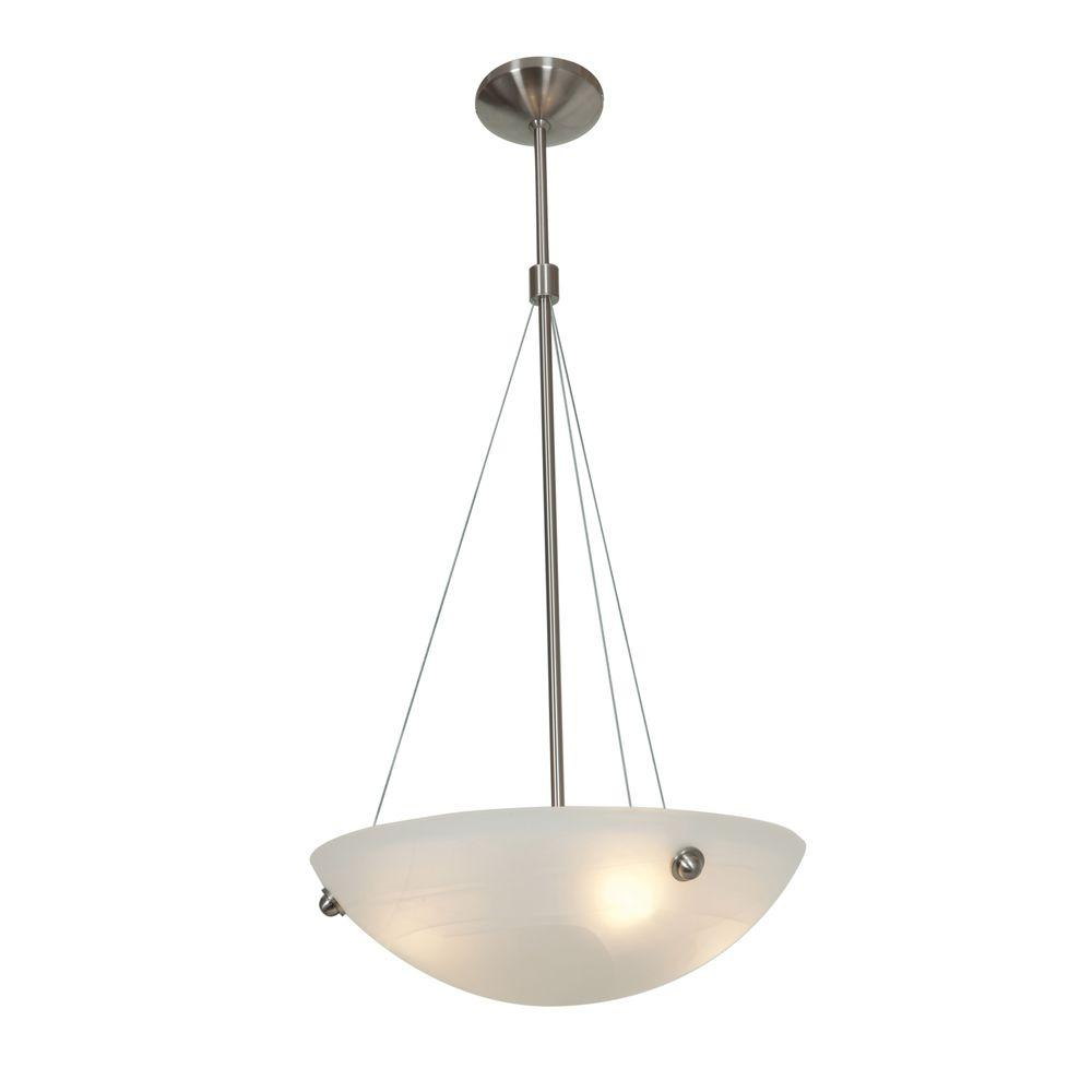 Access Lighting Noya 4-Light Stainless Steel Pendant with Alabaster Shade