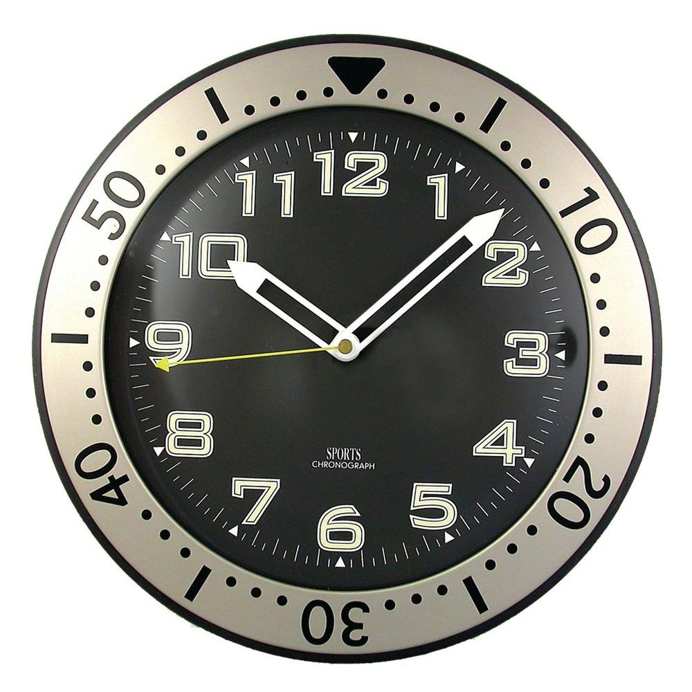 Timekeeper Products 11-3/4 in. Round Glow-In-The-Dark Wall Clock-DISCONTINUED