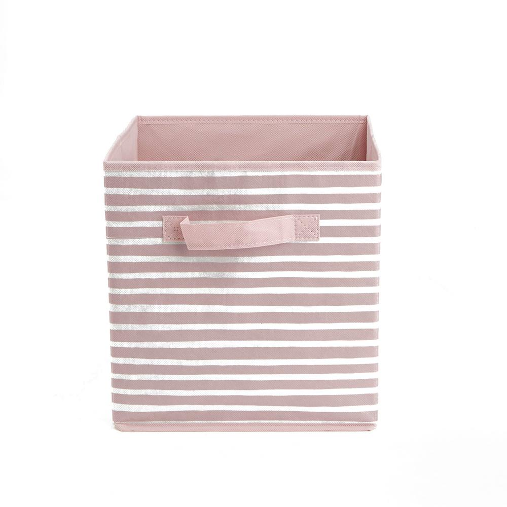c9142d173c7 Mind Reader 10.5 in. x 11.19 in. Pink Foldable Storage Bin with ...