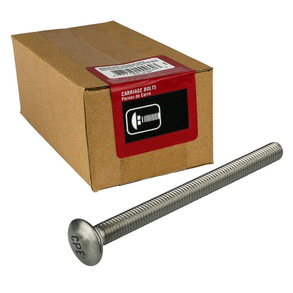 5/16 in. x 4 in. Stainless Steel Carriage Bolt (25-Pack)