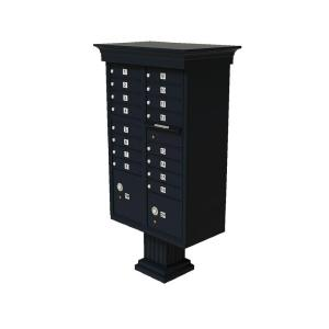 Florence Vital 1570 16 Mailboxes 2 Parcel Lockers 1 Outgoing Pedestal Mount Cluster Box Unit by Florence