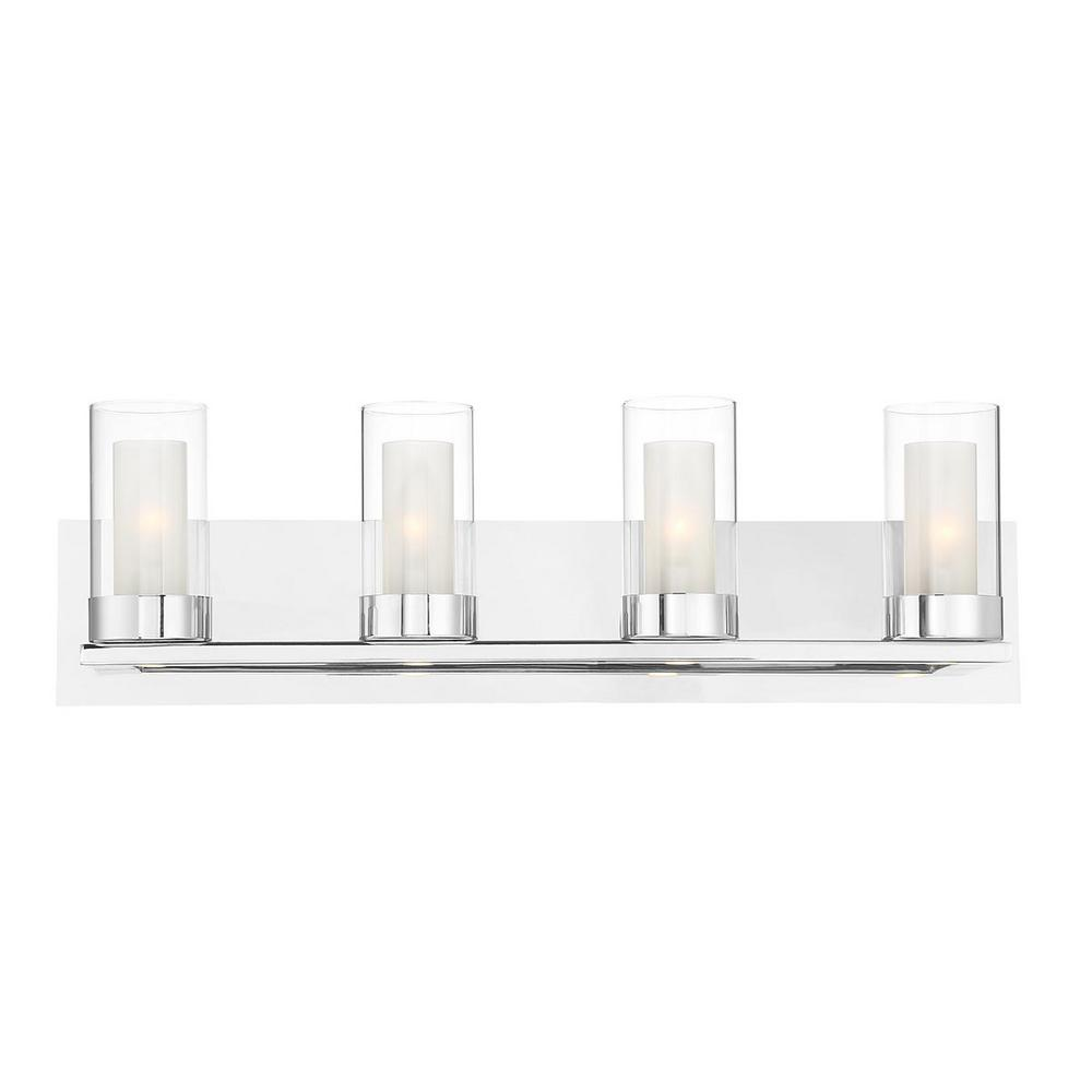 HomeDecoratorsCollection Home Decorators Collection Samantha 26.6 in. 4-Light Chrome LED Bathroom Vanity Light