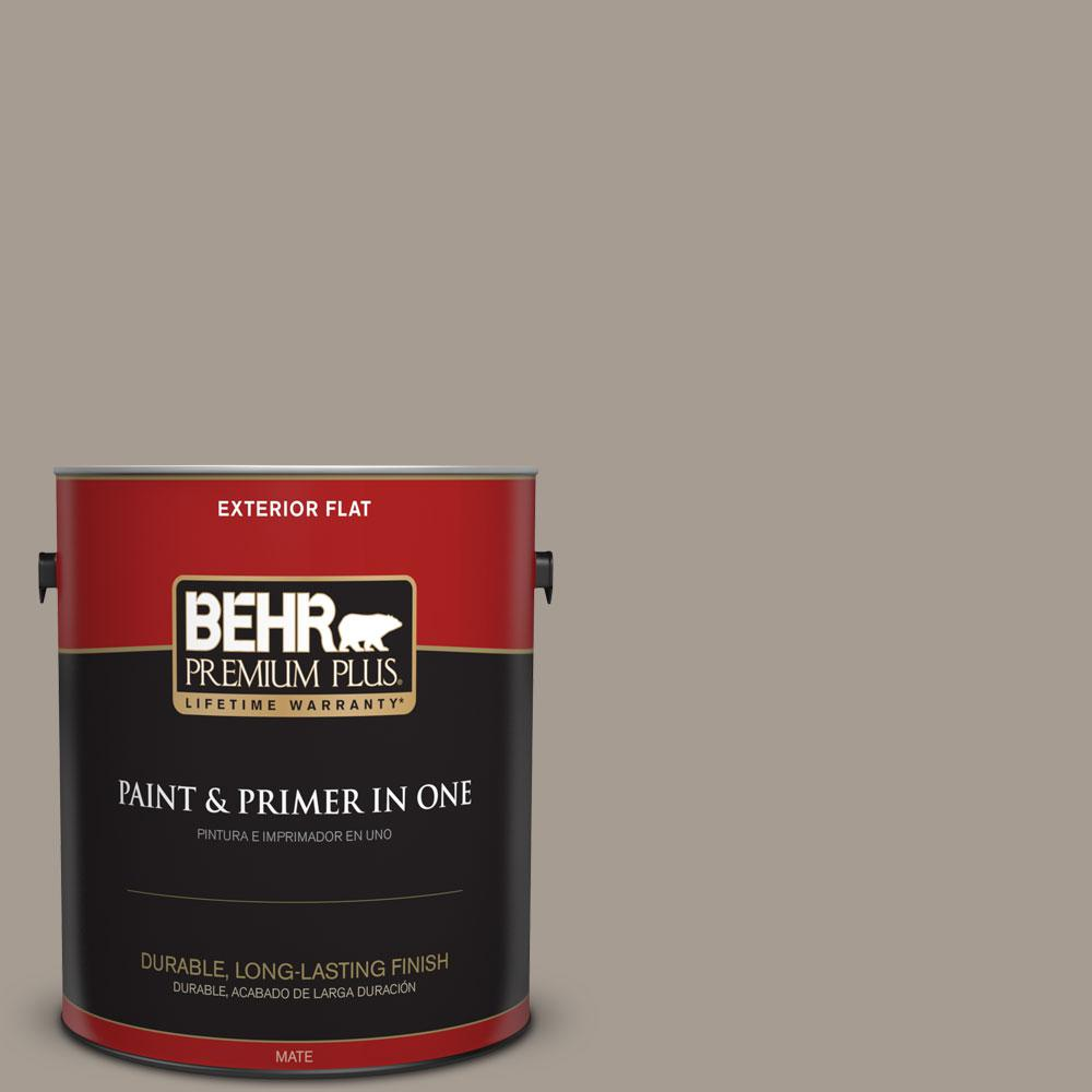 Behr Premium Plus 1 Gal N200 4 Rustic Taupe Flat Exterior Paint And