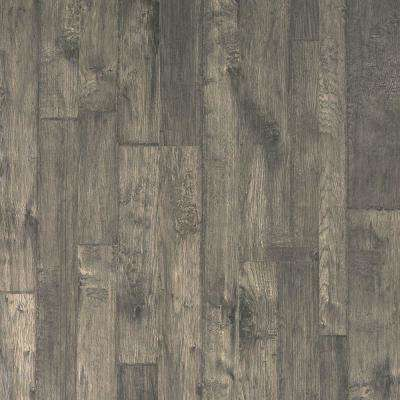 Outlast+ Bayshore Grey Hickory Laminate Flooring 5 in. x 7 in. - Take Home Sample