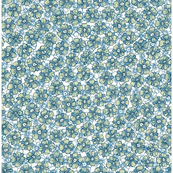 A-Street Allison Blue Floral Wallpaper 2657-22224