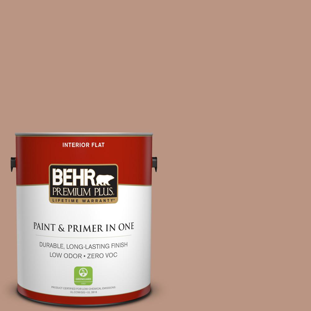 BEHR Premium Plus 1-gal. #S190-4 Spiced Brandy Flat Interior Paint