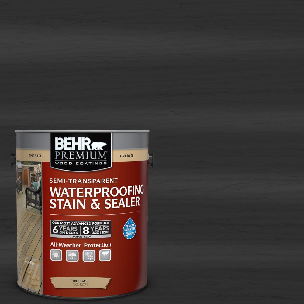 BEHR Premium 1 gal. #ST-102 Slate Semi-Transparent Waterproofing Stain and Sealer