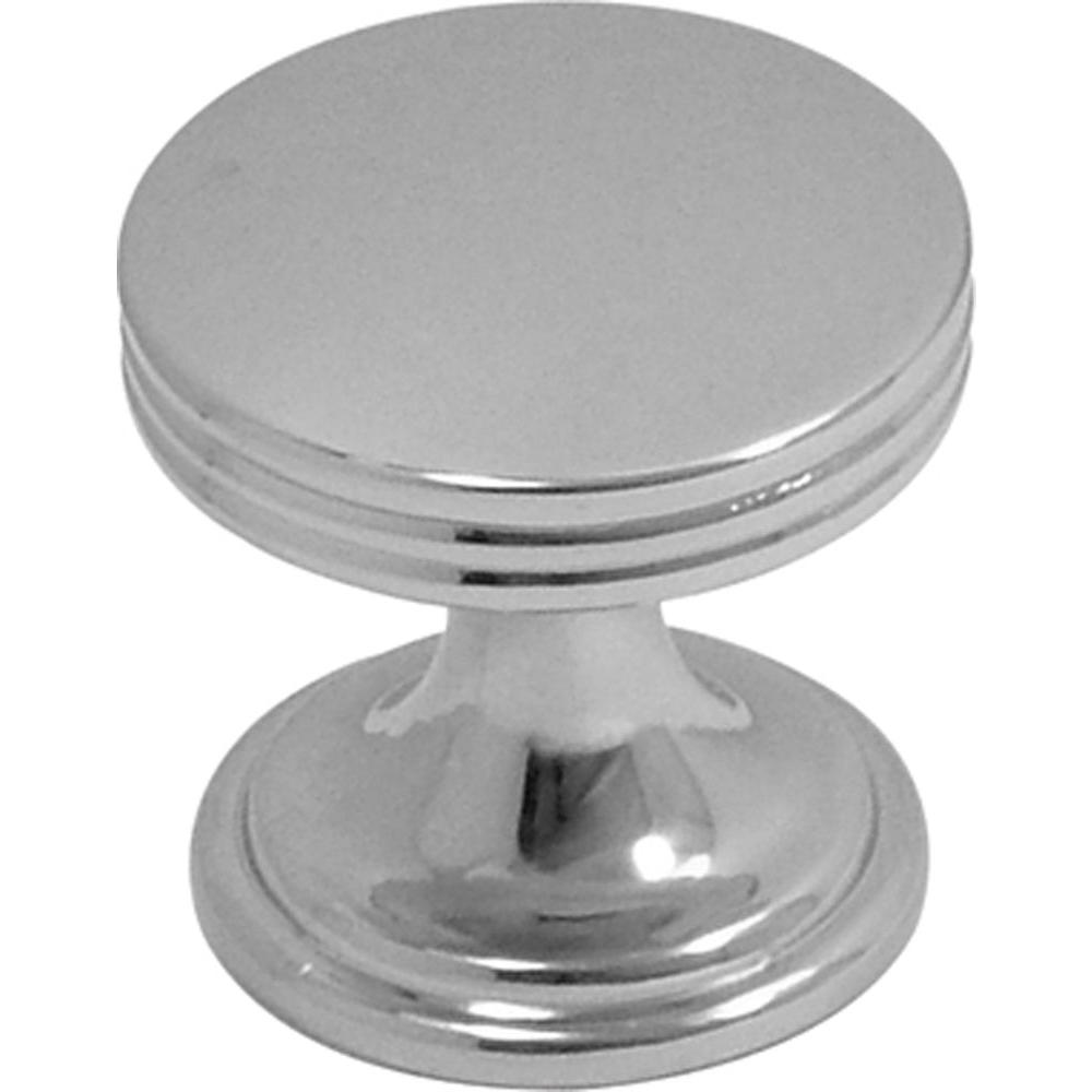 Hickory Hardware American Diner 1 in. Chrome Cabinet Knob