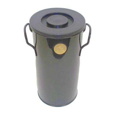 1 Gal. Galvanized Steel Black Compost Caddy