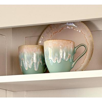 Taormina 14 oz. Aqua  Stoneware Mug (Set of 6)