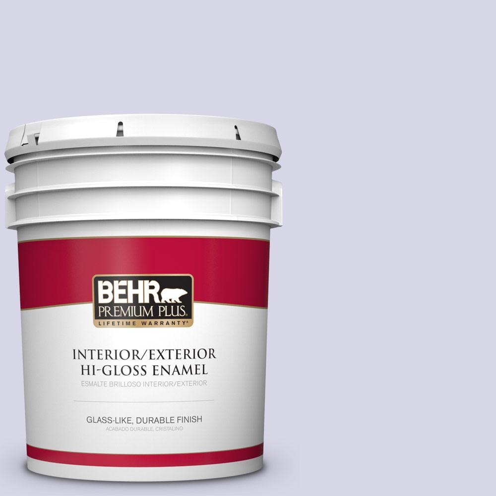 5 gal. #PPU16-08 Hint of Violet Hi-Gloss Enamel Interior/Exterior Paint