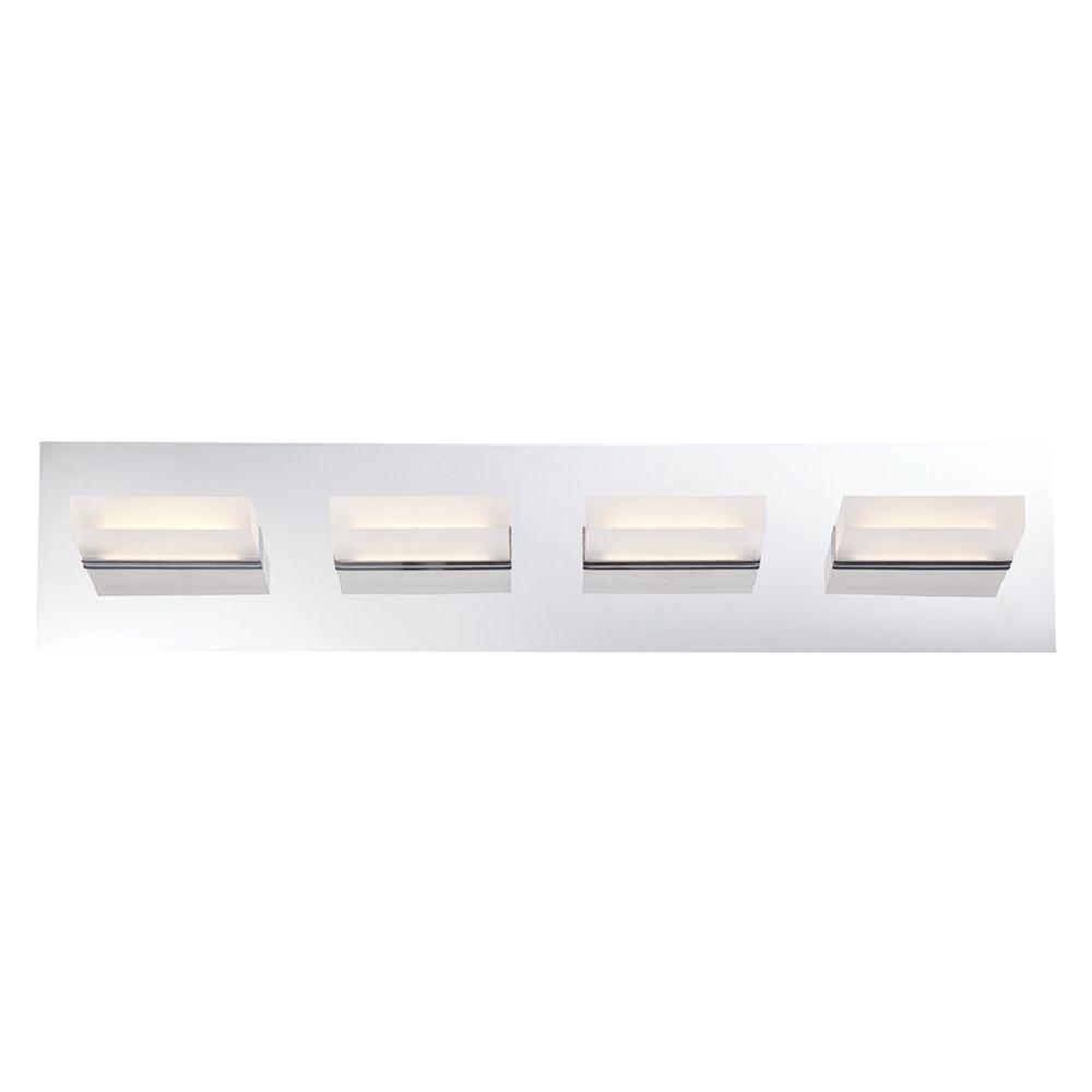 Olson Collection 4-Light Chrome LED Bath Bar Light