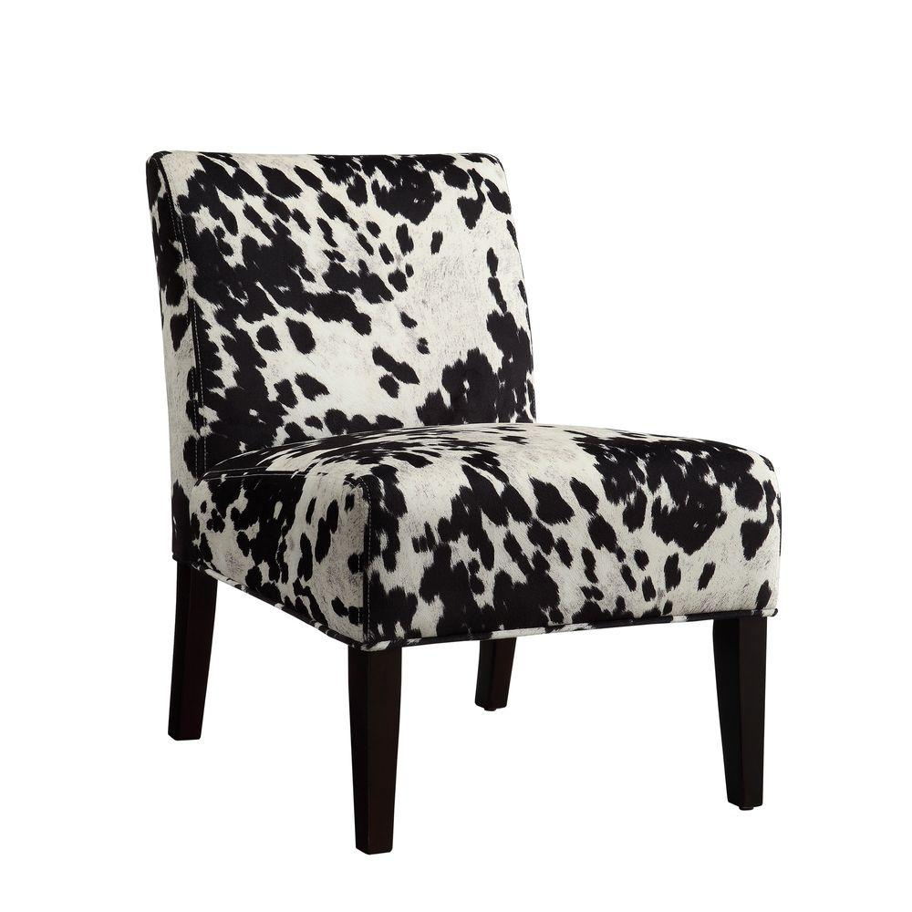 Black Cowhide Accent Chair