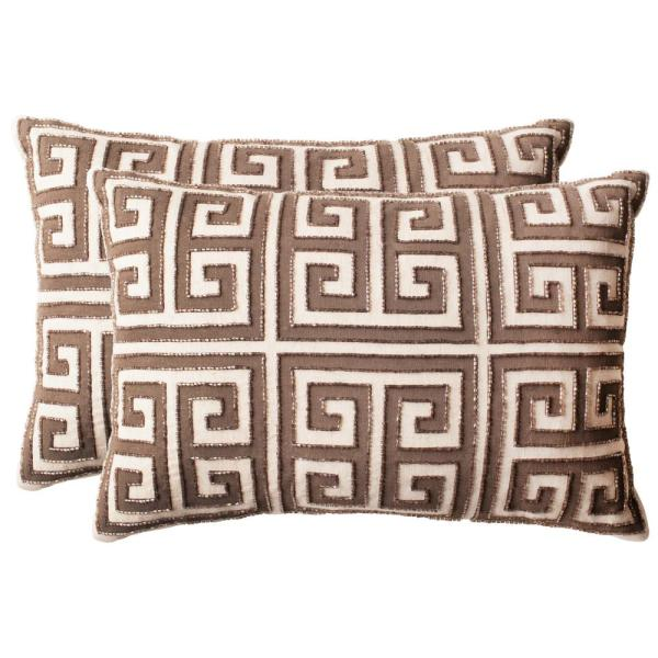 Safavieh Chy Embellished Hand-Beaded Pillow (2-Pack) DEC256B-1218-SET2