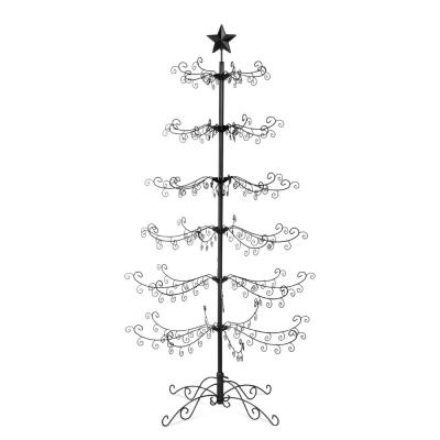 6 ft. Unlit Wrought Iron Ornament Display Artificial Christmas Tree