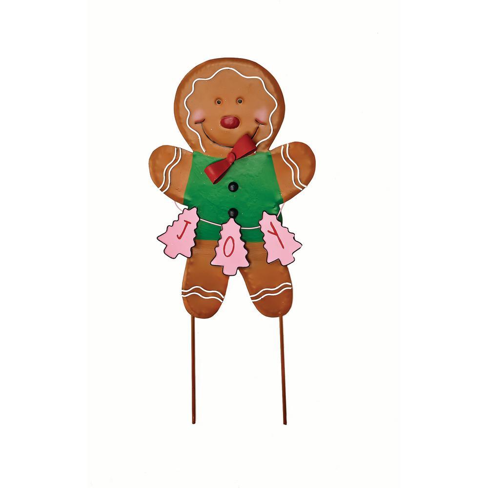 27 in. Metal Gingerbread Man Stick