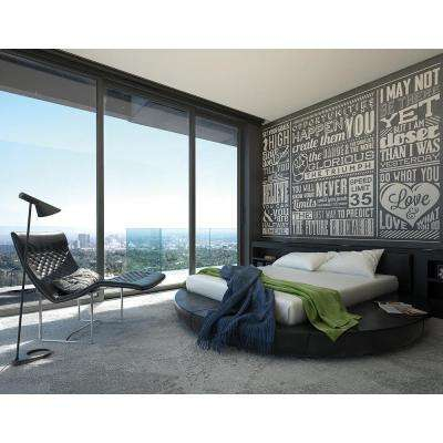 118 in. x 98 in. Chalk Quotes Wall Mural