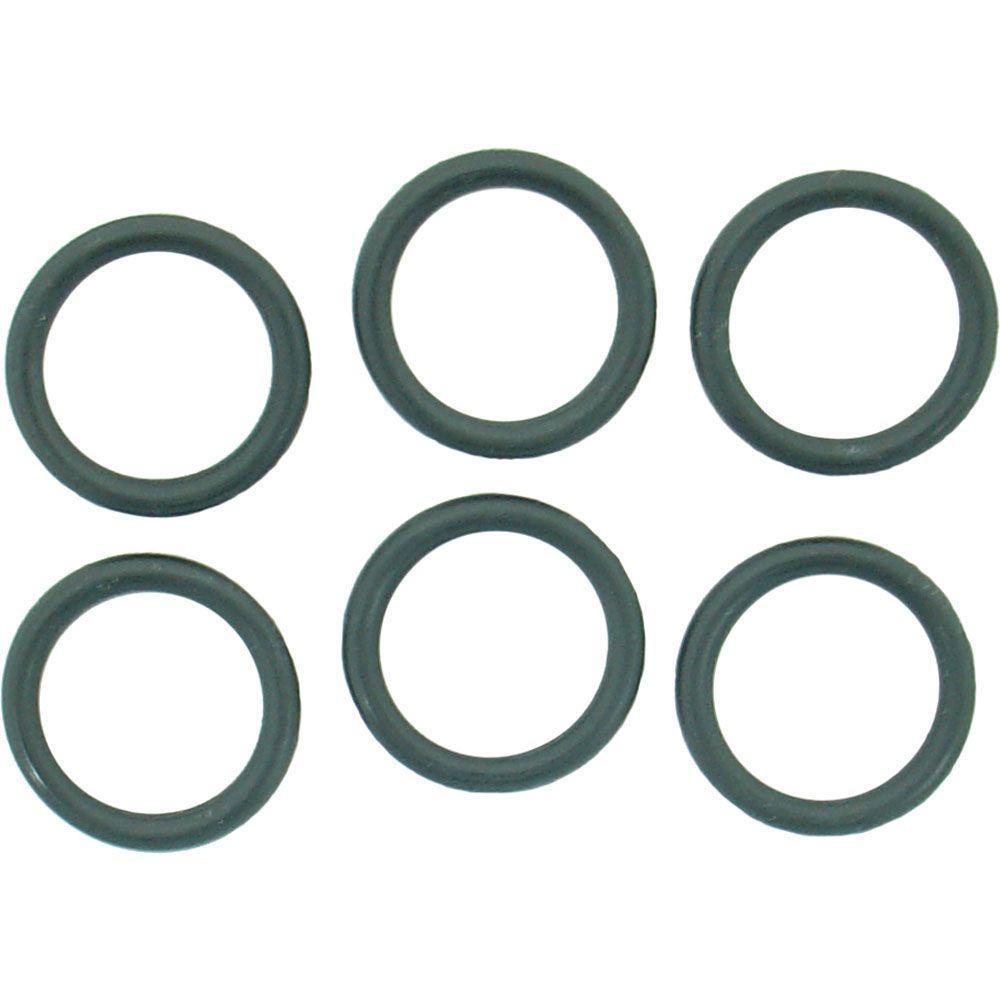 PartsmasterPro 3/4 in. O.D. x 9/16 in. I.D. #211 Rubber O-Ring (6 ...