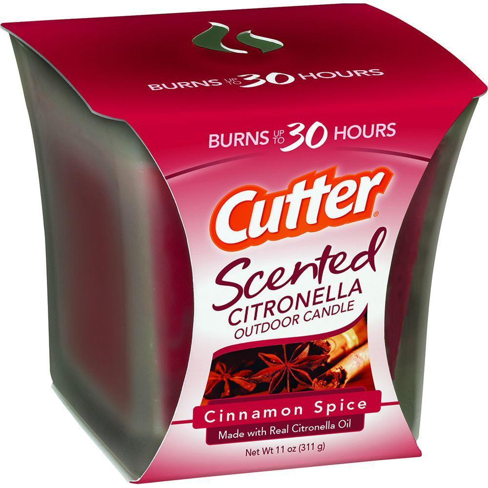 11 oz. Cinnamon Spice Scented Citronella Outdoor Candle