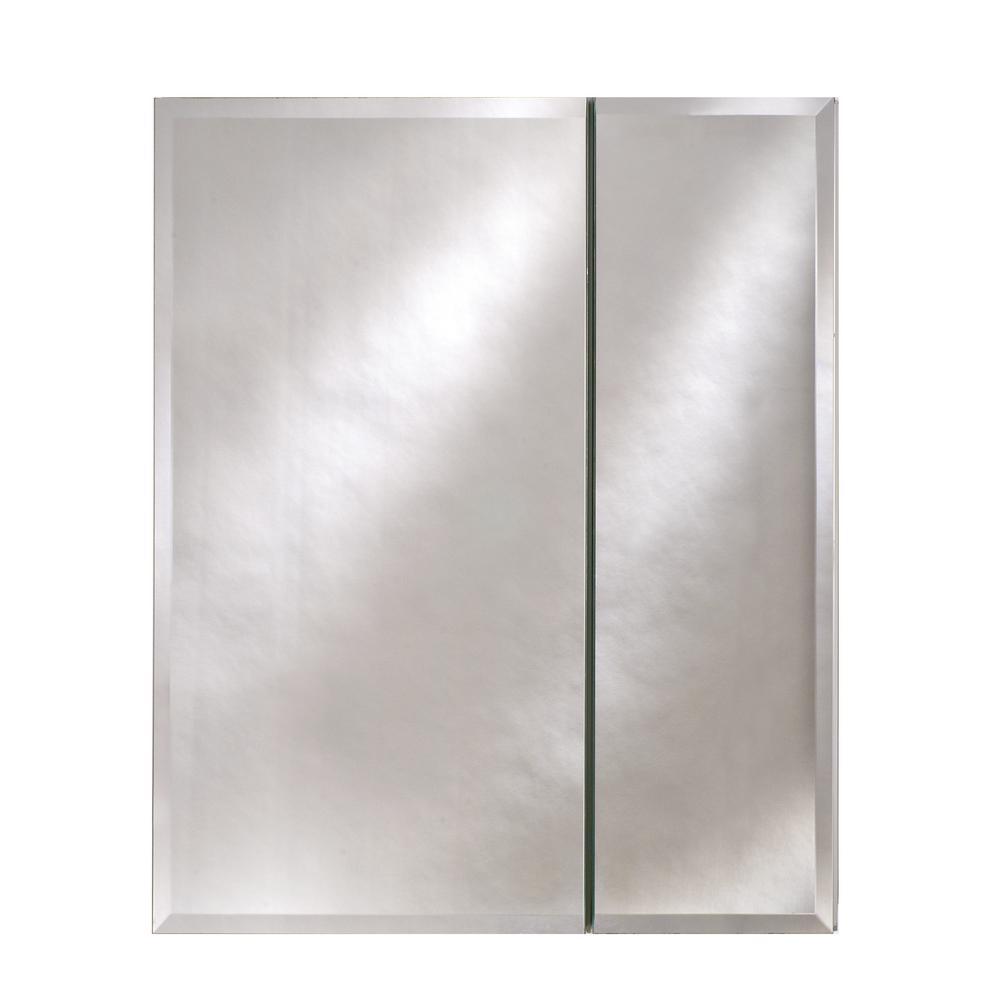 Broadway 28 in. x 30 in. Recessed or Optional Surface Mount Beveled Double Door Medicine Cabinet