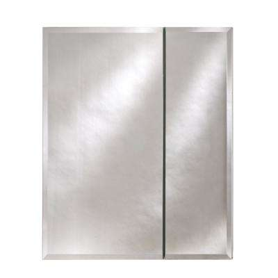 Broadway 28 in. x 30 in. Recessed or Optional Surface Mount Beveled Double Door Medicine Cabinet