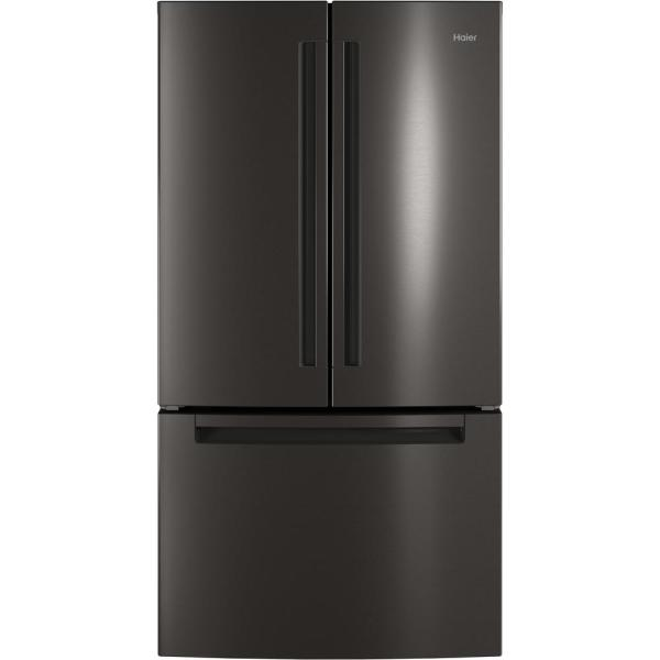 27.0 cu. ft. French Door Refrigerator in Black Stainless Steel, Fingerprint Resistant and ENERGY STAR