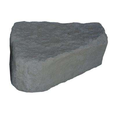 "14""H x 27""W x 35""L -  RIGHT TRIANGE GREY LANDSCAPING ROCK"