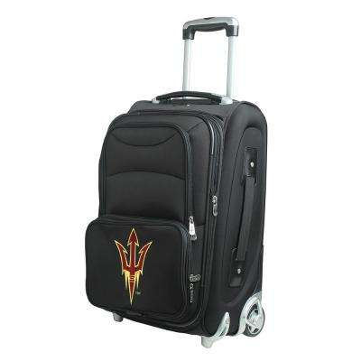 NCAA Arizona State 21 in. Black Carry-On Rolling Softside Suitcase
