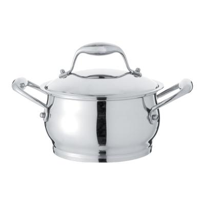 Zeno 3 Qt. 18/10 Stainless Steel Dutch Oven with Lid