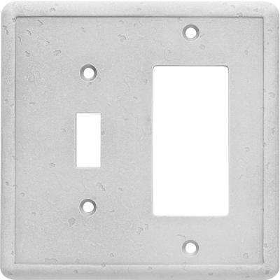 Toggle Decorator Combo Wall Plate, Gray
