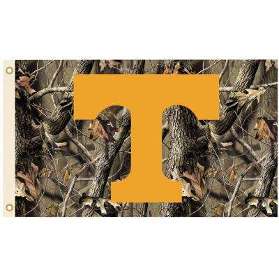 NCAA 3 ft. x 5 ft. Realtree Camo Background Tennessee Flag