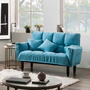 Terrific Harper Bright Designs Blue Chic Loveseat Sleeper Sofa Pabps2019 Chair Design Images Pabps2019Com