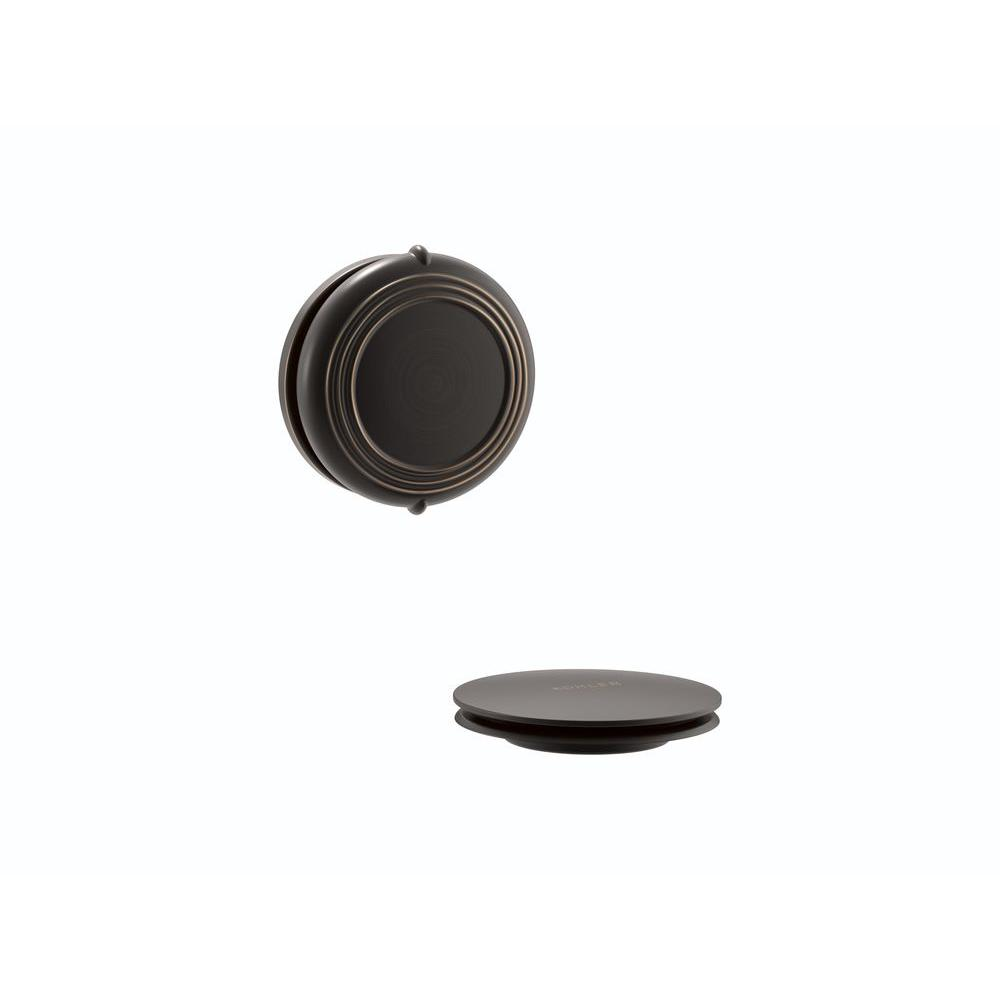 KOHLER PureFlo 2-5/8 in. H Traditional Rotary Turn Bath Drain Trim in Oil-Rubbed Bronze