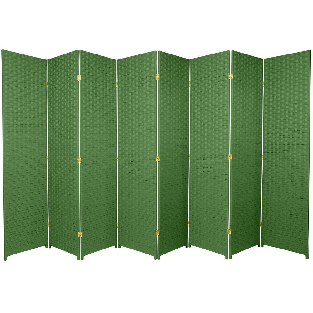 6 ft. Light Green 8-Panel Room Divider