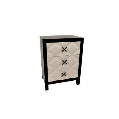 White Wood Cabinet-3-Drawers