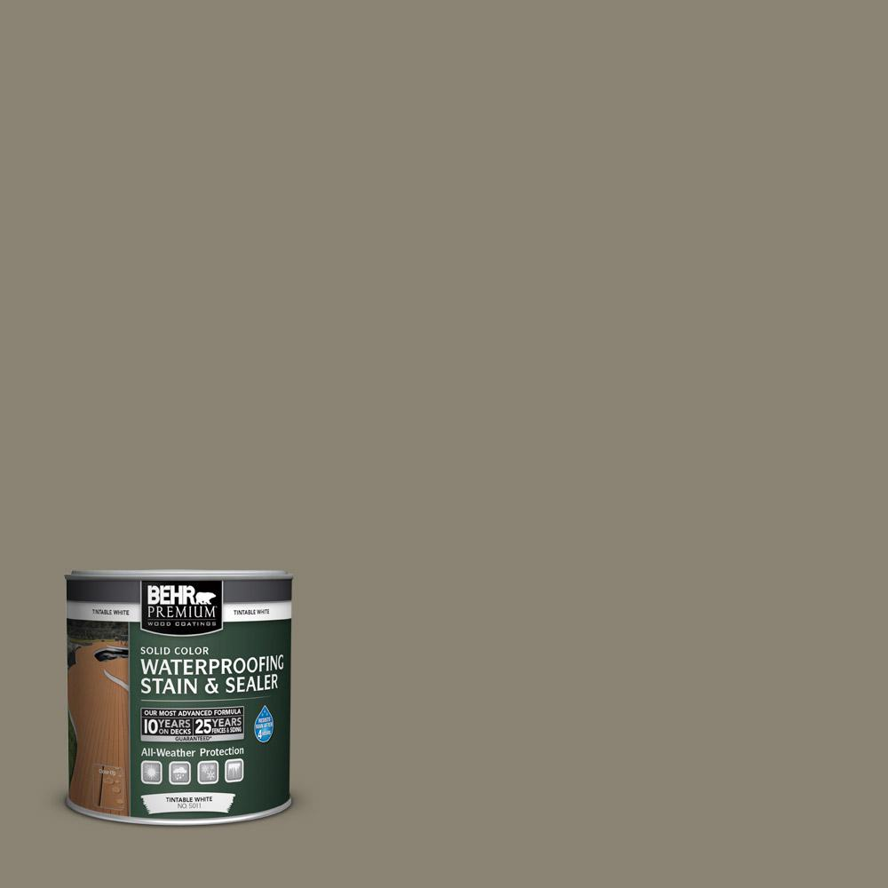 BEHR Premium 8 oz. #SC154 Chatham Fog Solid Color Waterproofing Stain and Sealer Sample