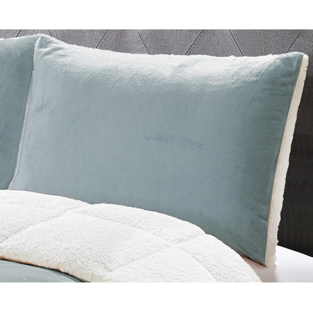 Micromink 3-Piece Grey Full/Queen Comforter Set