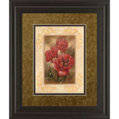 """34 in. x 40 in. """"Daphne'S Poppies"""" by Vivian Flasch Framed Printed Wall Art"""