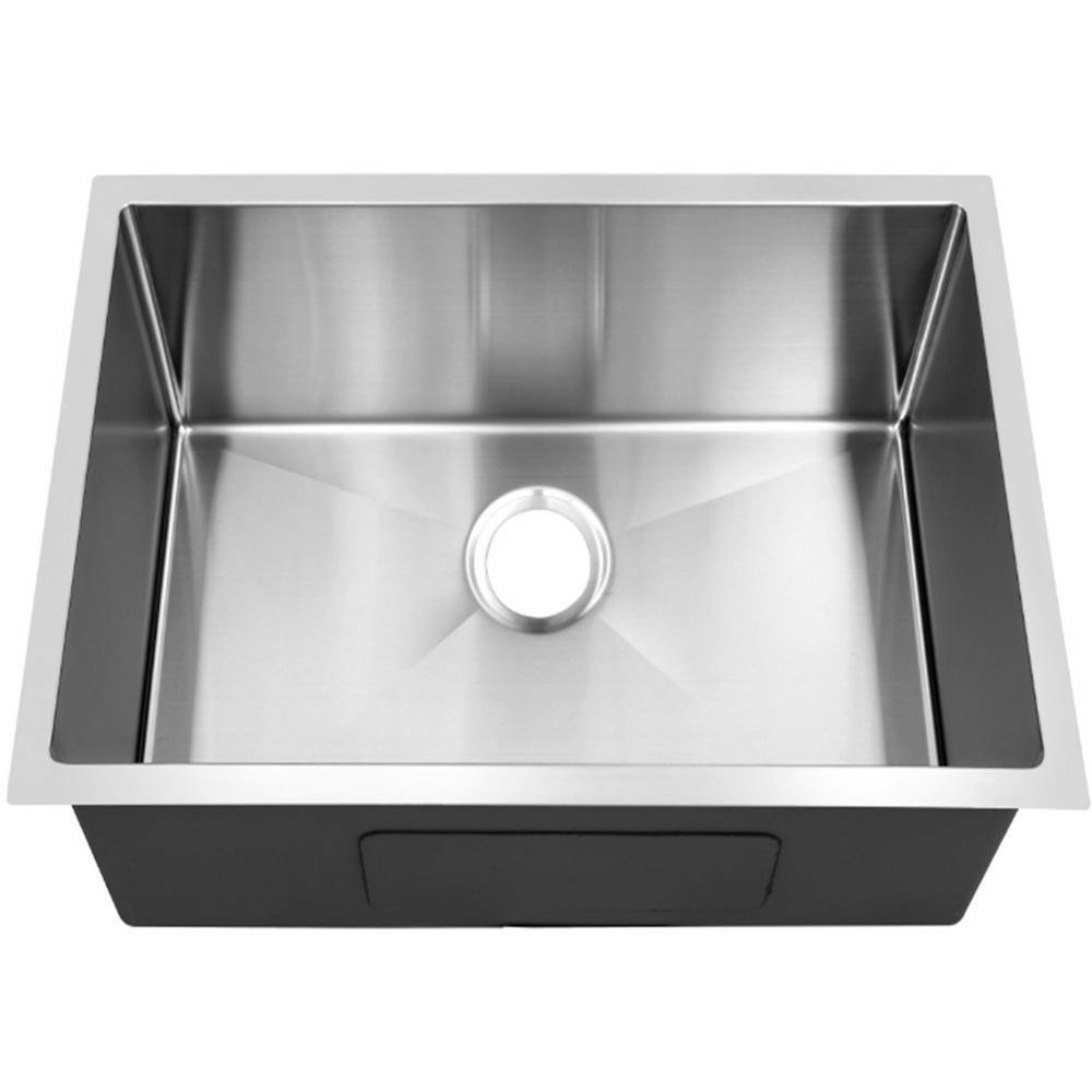 Single bowl 20 in. Stainless Steel Undermount Kitchen Sink