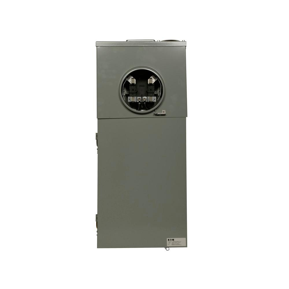BR 200 Amp 40-Circuit Meter Breaker Outdoor Surface Mount